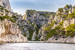 Calanque - Sheltered Inlet Near Cassis, France Royalty Free Stock Photography