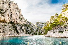 Calanque - Sheltered Inlet Near Cassis, France Royalty Free Stock Photo