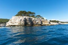 Calanque unik kustlinje Provence Arkivfoton