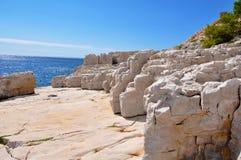 Calanques的岩石 库存图片