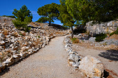 Calanques的岩石 图库摄影