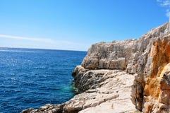 Calanques的岩石 免版税库存图片
