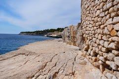 Calanques的岩石 免版税库存照片