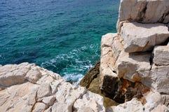 Calanques的岩石 库存照片