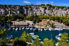 Calanques的岩石 免版税图库摄影