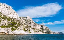 Calanques in Cassis, Frankreich stockfotos