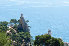 Calanques cliff. Stock Images