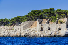 Calanques coast near Cassis in Provence Royalty Free Stock Images