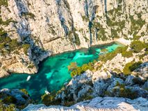 Calanques de Cassis, South Of France stock images