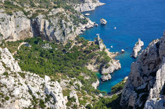Calanques de luminy, marseille Stock Images