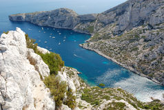 Calanques de luminy, Marseille Photographie stock libre de droits