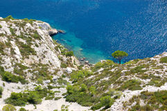 Calanques de luminy, marseille Royalty Free Stock Photos