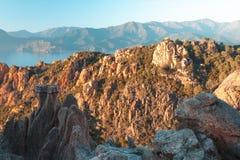 Calanques de Piana in Korsika, Frankreich lizenzfreie stockbilder