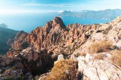 Calanques de Piana in Korsika, Frankreich lizenzfreies stockfoto
