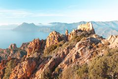 Calanques de Piana in Korsika, Frankreich Stockfotografie