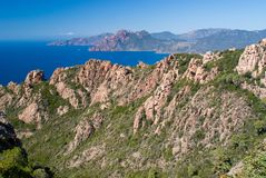 Calanques de Piana, POrto, Corsica Stock Images