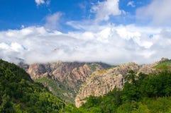 Calanques de Piana, site de patrimoine mondial de l'UNESCO sur la Corse Images stock
