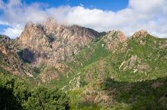 Calanques de Piana, sito del patrimonio mondiale dell'Unesco Immagini Stock Libere da Diritti