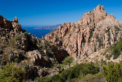Calanques de Piana, UNESCO world heritage site Royalty Free Stock Image
