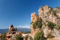 Calanques di Piana / Calanques of Piana 11. Landscape park Calanques near Piana, Corsica. Fantastic pink, red an grey rock formations. Amazing place, you can stock images
