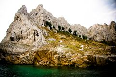 Calanques and lagoon near Marseille. France Royalty Free Stock Photos