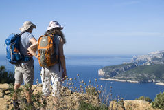 Calanques National Park - ideal trails for cyclists and excursionists Royalty Free Stock Image