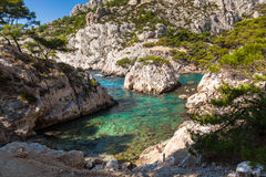 Calanques near Marseille and Cassis in France. Calanques near Marseille and Cassis in south of France Stock Photos