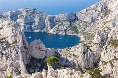 Calanques near Marseille and Cassis in France Royalty Free Stock Photos