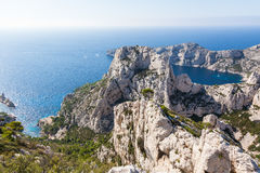 Calanques near Marseille and Cassis in France Stock Image
