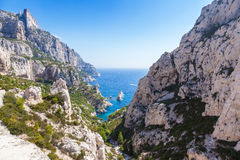Calanques near Marseille and Cassis in France Stock Photos