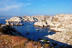 Calanques near Marseille in France Royalty Free Stock Photo
