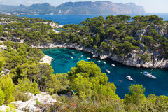 Free Calanques Of Port Pin In Cassis Royalty Free Stock Photo - 21130225