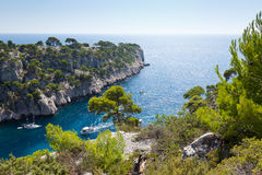 Calanques of Port Pin in Cassis Stock Photo