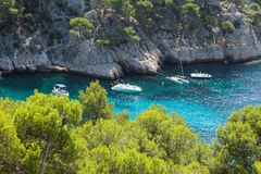 Calanques of Port Pin in Cassis Royalty Free Stock Photos
