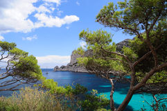 Calanques of Port Pin Stock Photography