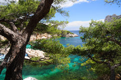 Calanques of Port Pin Stock Images
