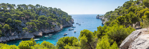 Calanques of Port Pin in Cassis Stock Image