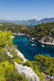 Calanques of Port Pin in Cassis Stock Images