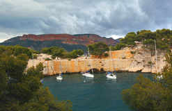 Calanques of Port Pin in Cassis in France Stock Photos
