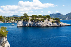 Calanques of Port Pin in Cassis, Provence, France Royalty Free Stock Images