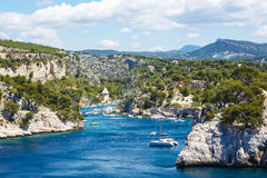 Calanques of Port Pin in Cassis, Provence, France Stock Photos