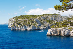 Calanques of Port Pin in Cassis, Provence, France Royalty Free Stock Photos