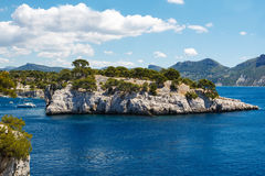 Calanques of Port Pin in Cassis, Provence, France. Landscape view on calanques of Port Pin in Cassis near Marseille, Provence, France Royalty Free Stock Images