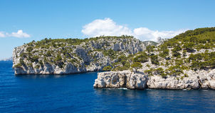 Calanques of Port Pin in Cassis, Provence, France. Landscape view on calanques of Port Pin in Cassis near Marseille, Provence, France Stock Photo