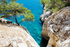 Calanques of Port Pin in Cassis, Provence, France. Landscape view on calanques of Port Pin in Cassis near Marseille, Provence, France Royalty Free Stock Photo