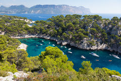 Calanques port szpilka w Cassis Obraz Royalty Free