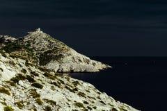 Calanques rocoso árido de Marsella Fotografía de archivo libre de regalías