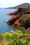 Calanques wybrzeże wzdłuż trasy De święty, Francja Obrazy Stock