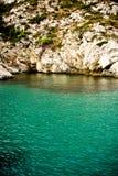 Calanques y laguna cerca de Marsella fotografía de archivo libre de regalías