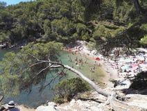 Calanqueshaven Alon Provence Stock Foto's